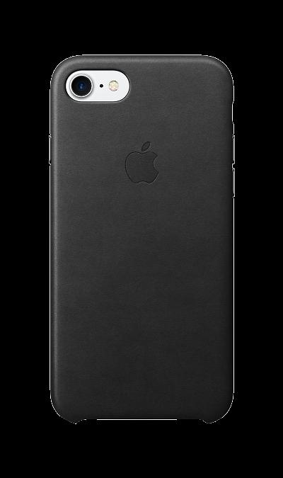 Apple Чехол-крышка Apple для Apple iPhone 7/8, кожа, черный apple чехол крышка apple mqha2zm для apple iphone 7 8 кожа красный