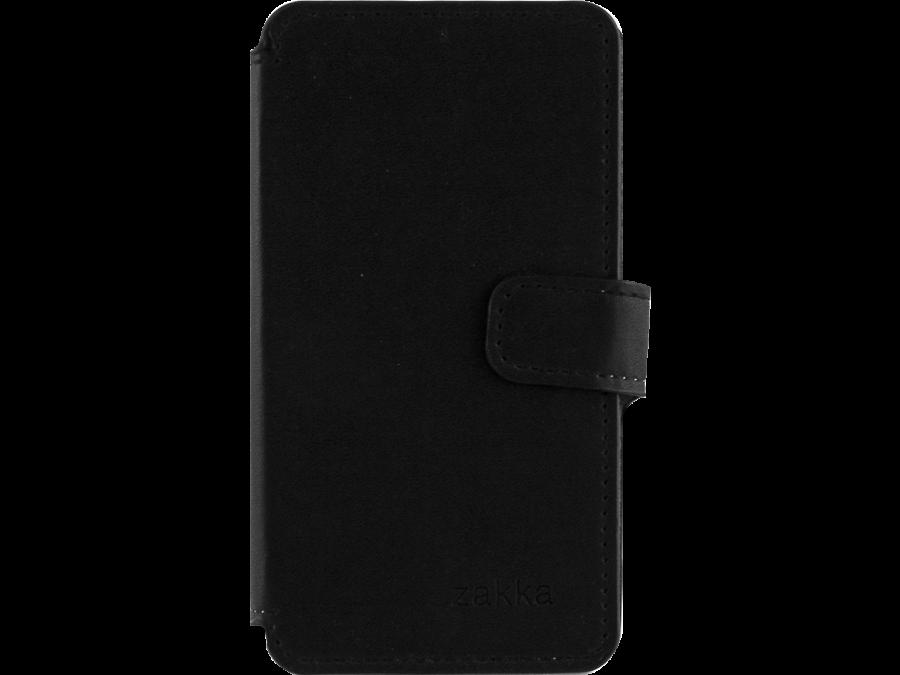 Чехол-книжка ZAKKA для Micromax D303, кожзам, черный