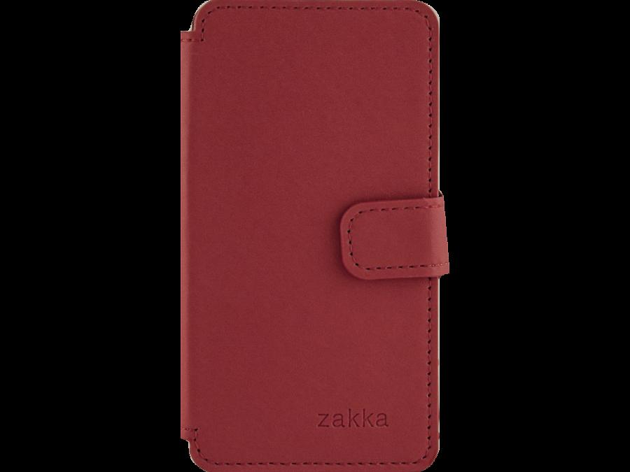 Чехол-книжка ZAKKA для Micromax D303, кожзам, красный