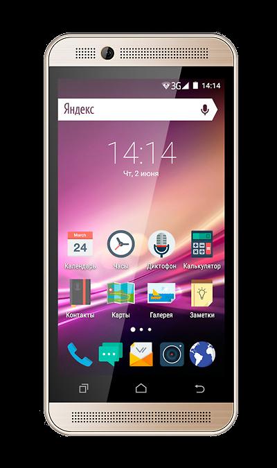 VERTEX Impress U TooСмартфоны<br>2G, 3G, Wi-Fi; ОС Android; Дисплей сенсорный емкостный 16,7 млн цв. 4.5; Камера 3 Mpix, AF; Разъем для карт памяти; MP3, FM,  GPS; Время работы 216 ч. / 4.5 ч.; Вес 142 г.<br><br>Colour: Золотистый