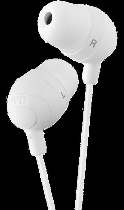 Наушники JVC HA-FX32-W, стерео (белые)Наушники и гарнитуры<br>Стильные наушники, которые обеспечивают высококачественное звучание и надежно держатся в ухе.<br><br>Динамическая головка: 11 мм;<br>Диапазон воспроизводимых частот: 8-20000 Гц;<br>Максимальная входная мощность: 200 мВт (IEC).<br><br>Colour: Белый