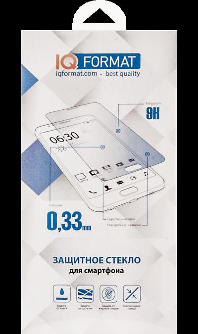 Защитное стекло IQ Format для Apple iPhone 7 Plus/8 Plus (черное)Защитные стекла и пленки<br>Качественное защитное стекло прекрасно защищает дисплей от царапин и других следов механического воздействия. Оно не содержит клеевого слоя и крепится на дисплей благодаря эффекту электростатического притяжения.<br>
