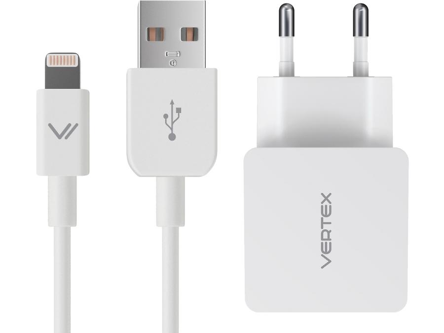 Зарядное устройство сетевое Vertex 2,4А (с разъемом Lightning)