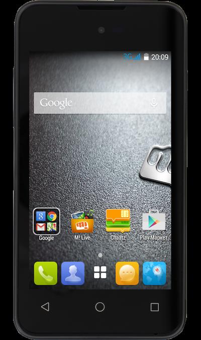 Micromax BOLT D303 BlackСмартфоны<br>2G, 3G, Wi-Fi; ОС Android; Камера 3.2 Mpix; Разъем для карт памяти; MP3, FM,  GPS; Время работы 360 ч. / 7.6 ч.; Вес 119 г.<br><br>Colour: Черный