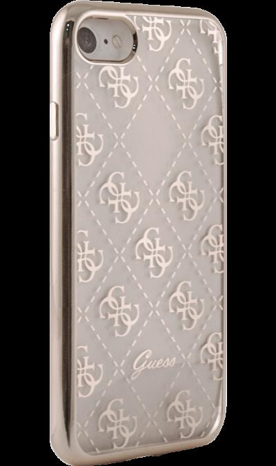 Guess Чехол-крышка Guess для Apple iPhone 7/8, силикон, розовый (Soft Case) чехол для iphone interstep для iphone x soft t metal adv красный