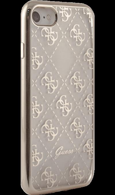 Guess Чехол-крышка Guess для Apple iPhone 7/8, силикон, золотой (Soft Case) чехол для iphone interstep для iphone x soft t metal adv красный