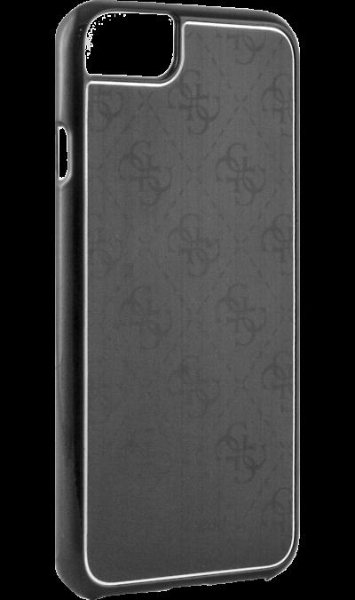 Чехол-крышка Guess для Apple iPhone 7, алюминий, черный (Hard Case)Чехлы и сумочки<br>Чехол Guess поможет не только защитить ваш Apple iPhone 7 от повреждений, но и сделает обращение с ним более удобным, а сам аппарат будет выглядеть еще более элегантным.<br><br>Colour: Черный