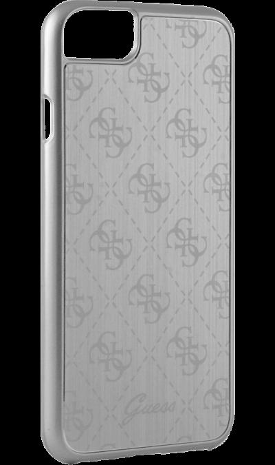 Чехол-крышка Guess для Apple iPhone 7, алюминий, серебряный (Hard Case)Чехлы и сумочки<br>Чехол Guess поможет не только защитить ваш Apple iPhone 7 от повреждений, но и сделает обращение с ним более удобным, а сам аппарат будет выглядеть еще более элегантным.<br><br>Colour: Серебристый