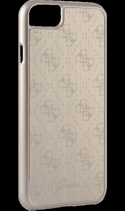 Чехол-крышка Guess для Apple iPhone 7/8, алюминий, золотой (Hard Case)Чехлы и сумочки<br>Чехол Guess поможет не только защитить ваш Apple iPhone 7 от повреждений, но и сделает обращение с ним более удобным, а сам аппарат будет выглядеть еще более элегантным.<br><br>Colour: Золотистый