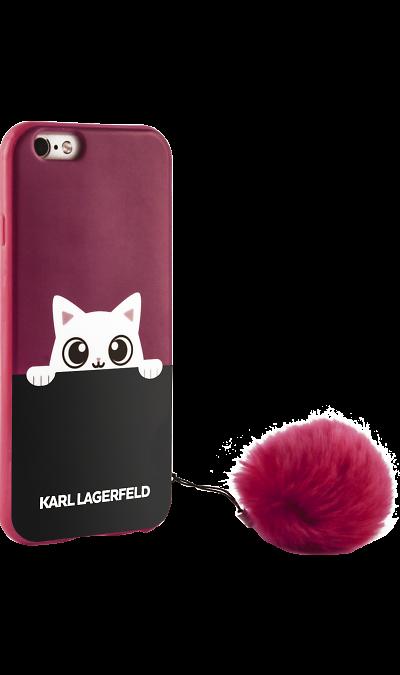 цена на Karl Lagerfeld Чехол-крышка Karl Lagerfeld для Apple iPhone 6/6S, силикон, розовый (Soft Case)