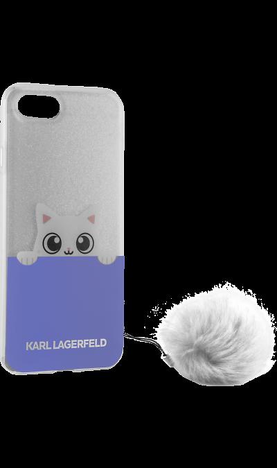цена на Karl Lagerfeld Чехол-крышка Karl Lagerfeld для Apple iPhone 6/6S, силикон, голубой (Soft Case)