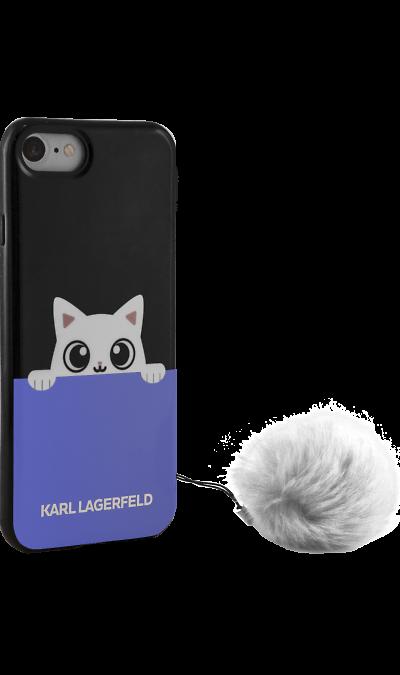 Karl Lagerfeld Чехол-крышка Karl Lagerfeld для Apple iPhone 7/8, силикон, черный (Soft Case) guess чехол крышка guess для apple iphone 7 8 алюминий золотой hard case