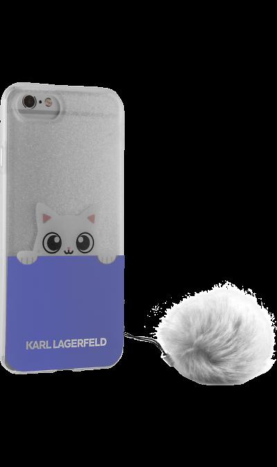 Чехол-крышка Karl Lagerfeld для Apple iPhone 7/8, силикон, прозрачный (Soft Case)Чехлы и сумочки<br>Чехол Karl Lagerfeld  поможет не только защитить ваш iPhone 7 от повреждений, но и сделает обращение с ним более удобным, а сам аппарат будет выглядеть еще более элегантным.<br><br>Colour: Белый