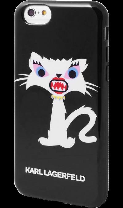 Чехол-крышка Karl Lagerfeld Case Monster для Apple iPhone 6, силикон, черный (Soft Case)Чехлы и сумочки<br>Чехол Karl Lagerfeld  поможет не только защитить ваш iPhone 6 от повреждений, но и сделает обращение с ним более удобным, а сам аппарат будет выглядеть еще более элегантным.<br><br>Colour: Черный