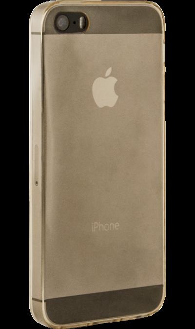 Krutoff Чехол-крышка Krutoff для Apple iPhone 5/5S, силикон, золотой аксессуар чехол накладка krutoff для apple iphone 5 5s se transparent black 10672