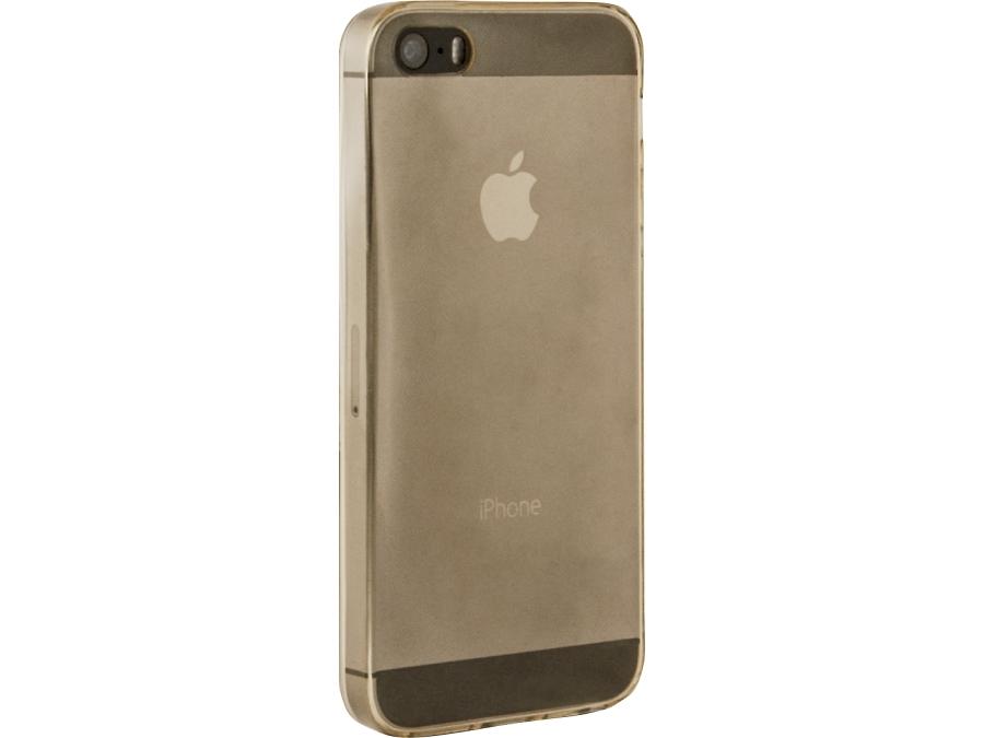 Чехол-крышка Krutoff для iPhone 5S, силикон, прозрачный