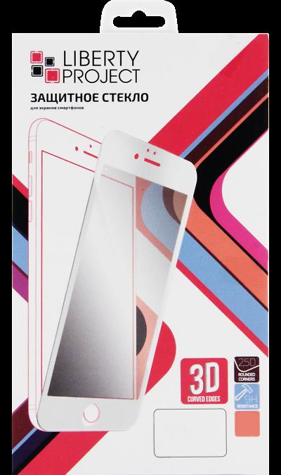 Защитное стекло Liberty Project для Apple iPhone 6/6s (с белой рамкой)Защитные стекла и пленки<br>Качественное защитное стекло прекрасно защищает дисплей от царапин и других следов механического воздействия. Оно не содержит клеевого слоя и крепится на дисплей благодаря эффекту электростатического притяжения. Стекло имеет по краям белые рамки.<br>