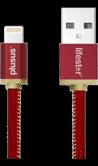 Кабель Lifestar Plusus LS USB-Lightning (красный)Кабели и адаптеры<br>Кабель для соединения через USB-порт ноутбука или компьютера с устройствами  имеющими разъем lightning.<br><br>Colour: Красный