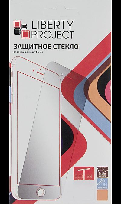 Защитное стекло Liberty Project для Apple iPhone 6/6s с белой рамкойЗащитные стекла и пленки<br>Качественное защитное стекло прекрасно защищает дисплей от царапин и других следов механического воздействия. Оно не содержит клеевого слоя и крепится на дисплей благодаря эффекту электростатического притяжения. Стекло имеет по краям белые рамки.<br>