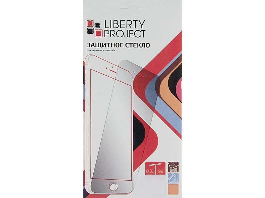 Защитное стекло Liberty Project для Apple iPhone 6 с белой рамкой
