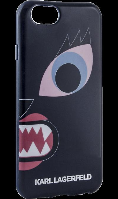 цена на Karl Lagerfeld Чехол-крышка Karl Lagerfeld Case Monster для Apple iPhone 6/6S, силикон, синий (Soft Case)