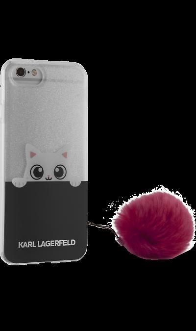 Karl Lagerfeld Чехол-крышка Karl Lagerfeld для Apple iPhone 6/6s, силикон, темно-синий (Soft Case) apple apple для apple iphone 6s задняя крышка силикон синий
