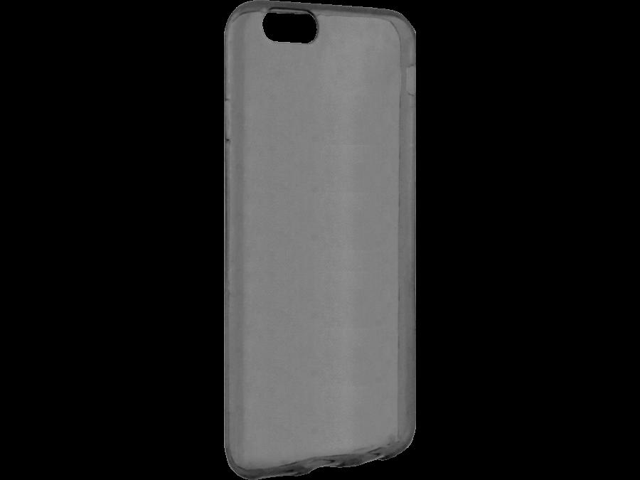 Чехол-крышка Krutoff для Apple iPhone 6/6S, силикон, черный (прозрачный)