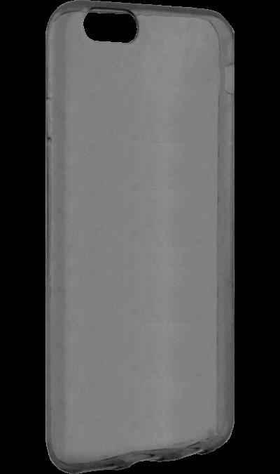 Krutoff Чехол-крышка Krutoff для Apple iPhone 6/6S, силикон, черный (прозрачный) чехол накладка interstep is frame для apple iphone 6 6s прозрачный с прокрашенным бампером розового цвета