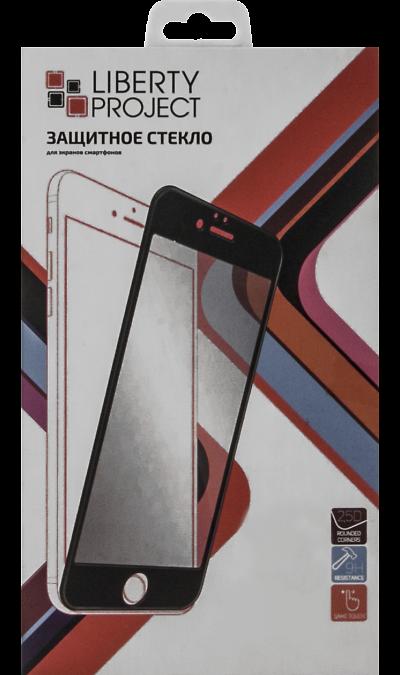 Защитное стекло Liberty Project для Apple iPhone 6 Plus/6S Plus (с черной рамкой)Защитные стекла и пленки<br>Качественное защитное стекло прекрасно защищает дисплей от царапин и других следов механического воздействия. Оно не содержит клеевого слоя и крепится на дисплей благодаря эффекту электростатического притяжения. Стекло имеет по краям черные  рамки.<br>