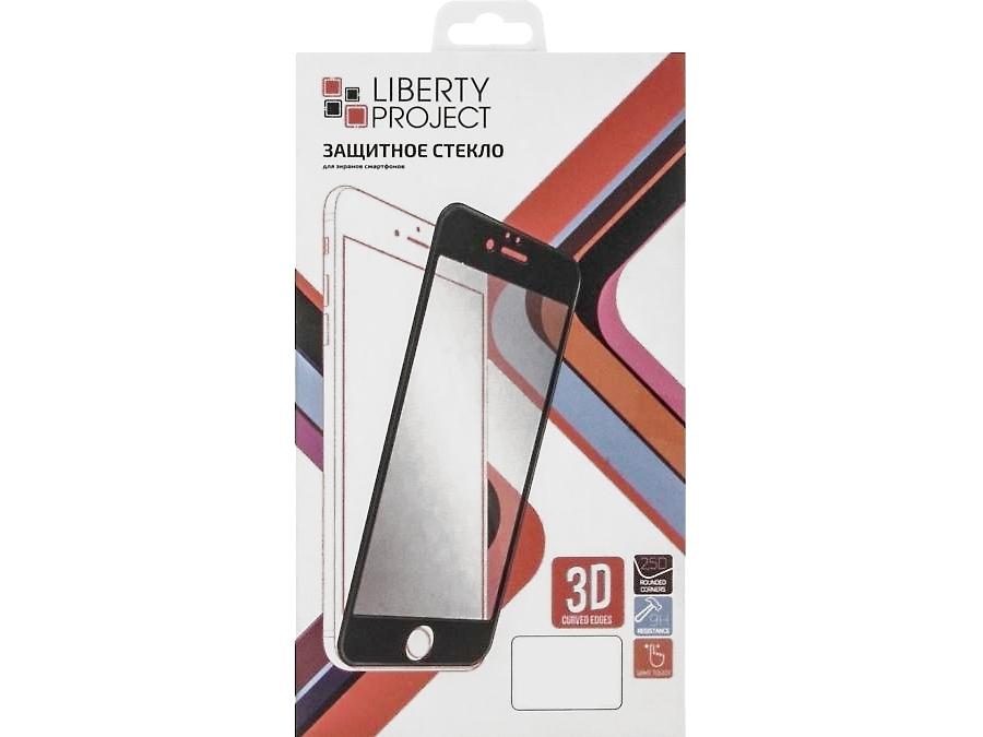 Защитное стекло Liberty Project для Apple iPhone 6 с черной рамкой