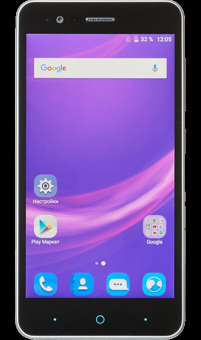 ZTE Blade A510Смартфоны<br>2G, 3G, 4G, Wi-Fi; ОС Android; Дисплей сенсорный емкостный 16,7 млн цв. 5; Камера 13 Mpix, AF; Разъем для карт памяти; MP3, FM,  GPS; Вес 132 г.<br><br>Colour: Серый
