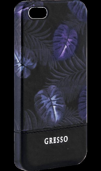 Gresso Чехол-крышка Gresso Коллекция Тропики для Apple iPhone 5/5S, пластик, черный gresso pr 2