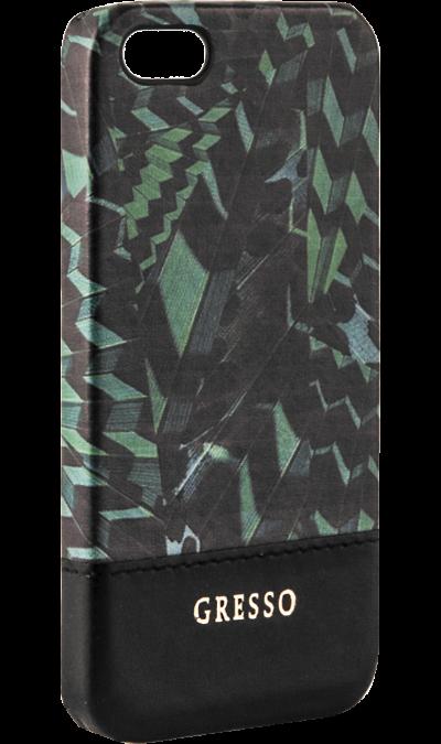 Gresso Чехол-крышка Gresso Коллекция Тропики для Apple iPhone 5/5s, пластик, зеленый gresso pr 2