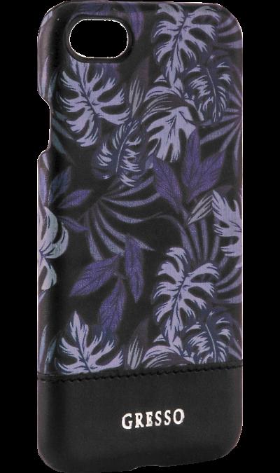 Gresso Чехол-крышка Gresso Коллекция Тропики для Apple iPhone 7/8, пластик, фиолетовый клип кейс gresso виктория модель 1 для apple iphone 7 8 с рисунком