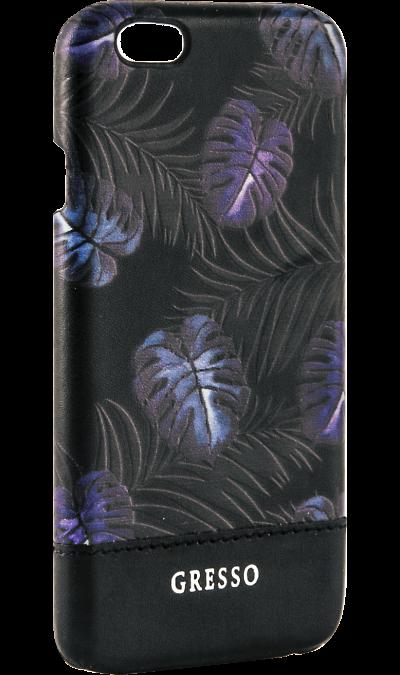 Gresso Чехол-крышка Gresso Коллекция Тропики для Apple iPhone 6/6S, пластик, черный odoyo чехол аккумулятор odoyo для apple iphone 6 6s 3000mah пластик черный