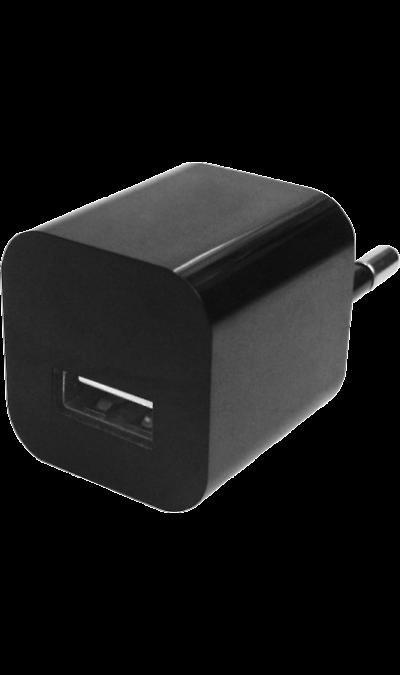 Зарядное устройство сетевое Oxion (1 USB разъем)Зарядные устройства<br>Сетевое зарядное устройство Oxion можно использовать для зарядки аккумуляторов аппаратов. USB кабель в комплект не входит.<br><br>Colour: Черный
