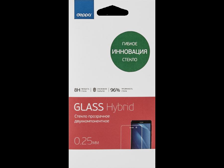 Deppa Защитное стекло Deppa Hybrid для Apple iPhone 6 Plus/6s Plus/7 Plus  (прозрачное) защитные стекла deppa защитное стекло для apple iphone 6 plus