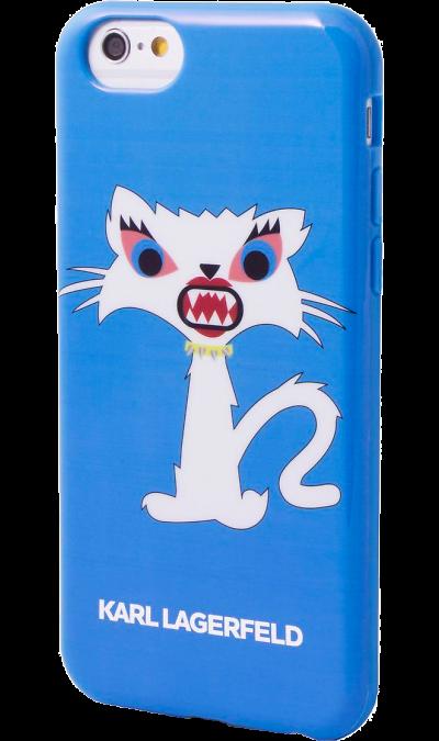 Karl Lagerfeld Чехол-крышка Karl Lagerfeld Case Monster для Apple iPhone 6, силикон, синий (Soft Case)