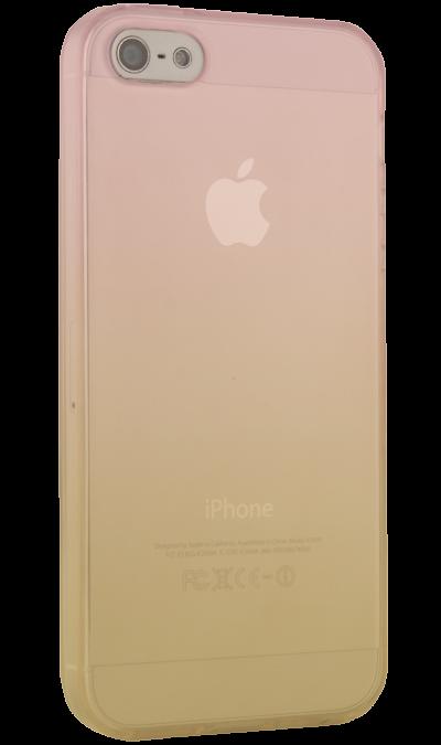все цены на CASE Чехол-крышка CASE для Apple iPhone 5/5S, жёлто-розовый, силикон, прозрачный
