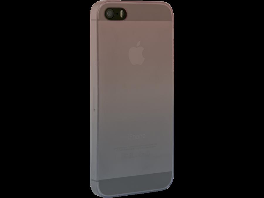 Чехол-крышка CASE для Apple iPhone 5/5S, фиолетово-голубой, силикон, прозрачный