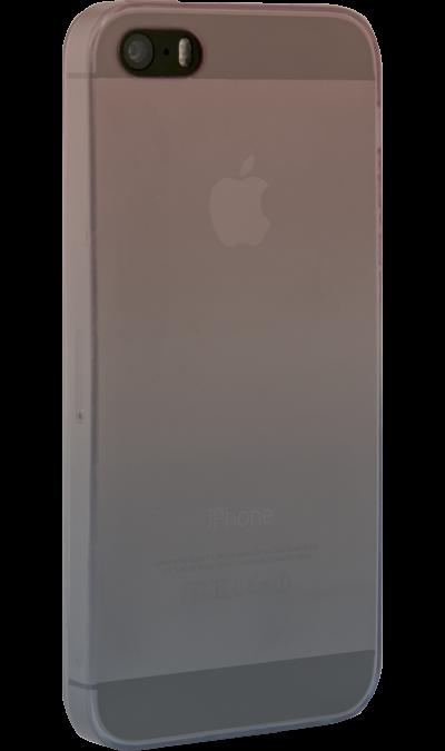 CASE Чехол-крышка CASE для Apple iPhone 5/5S, фиолетово-голубой, силикон, прозрачный стоимость