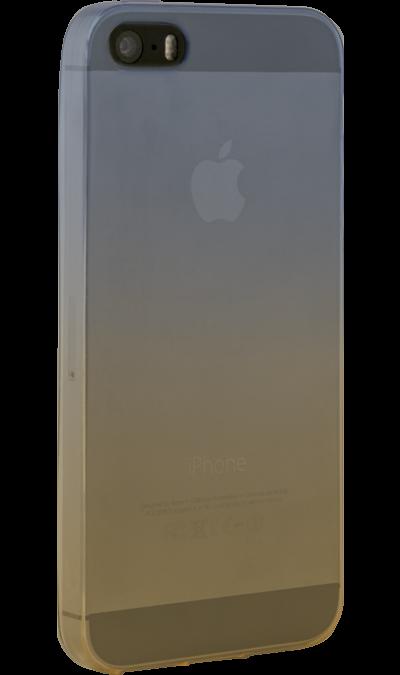 CASE Чехол-крышка CASE для Apple iPhone 5/5S, жёлто-синий, силикон, прозрачный perfeo клип кейс для apple iphone 5 5s tpu прозрачный pf 5237