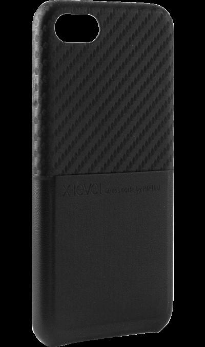 X-level Чехол-крышка X-level для Apple iPhone 7/8, кожзам, черный аксессуар чехол innovation jeans для apple iphone 7 8 white 10774