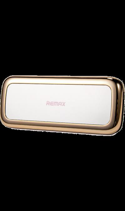 Аккумулятор Remax Mirror, 5500 мАч, золотистый (портативный)Аккумуляторы внешние<br>Резервный аккумулятор Remax - устройство, предназначенное для зарядки портативных устройств без помощи электрической сети. Особенно актуален для путешественников и туристов в местах, где невозможен или ограничен доступ к электроэнергии. Резервный аккумулятор подходит для портативных устройств, таких как смартфоны, планшеты, мобильные телефоны и МР3-плееры.<br><br>Colour: Золотистый