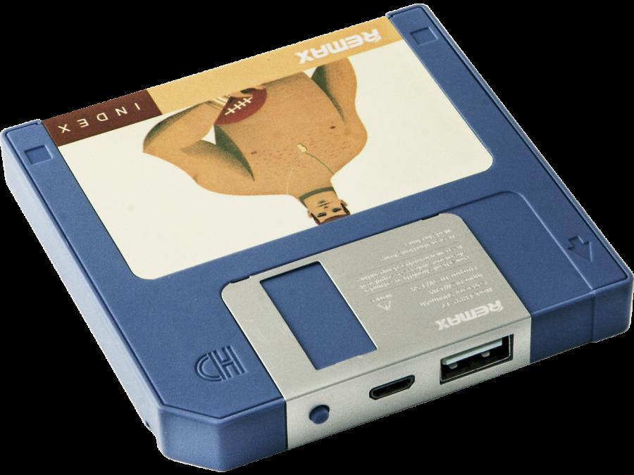 Аккумулятор Remax Disk, 5000 мАч, голубой (портативный)