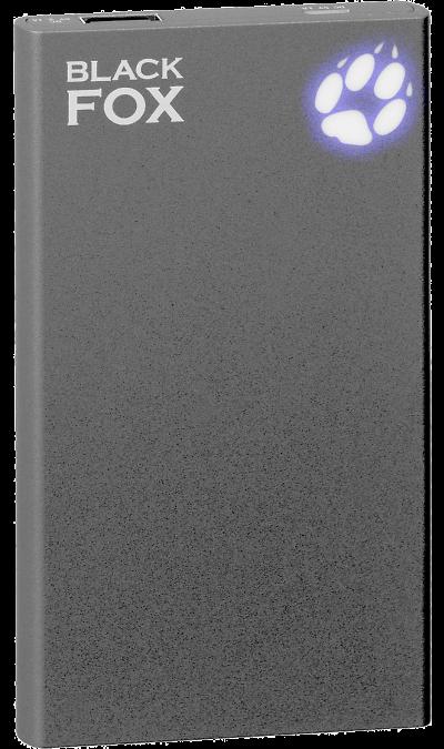 Аккумулятор Black Fox, Li-Pol, 5000 мАч, черный (портативный)Аккумуляторы внешние<br>Резервный аккумулятор Black Fox - устройство, предназначенное для зарядки портативных устройств без помощи электрической сети. Особенно актуален для путешественников и туристов в местах, где невозможен или ограничен доступ к электроэнергии. Резервный аккумулятор подходит для портативных устройств, таких как смартфоны, планшеты, мобильные телефоны и МР3-плееры.<br><br>Colour: Черный