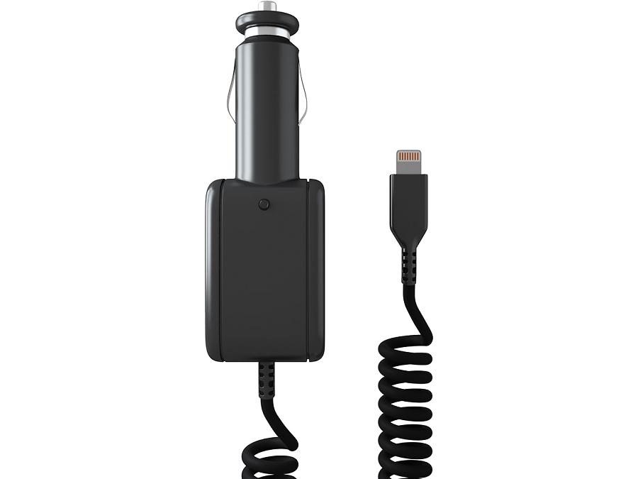 Зарядное устройство автомобильное Stark с разъемом Lightning (белое)