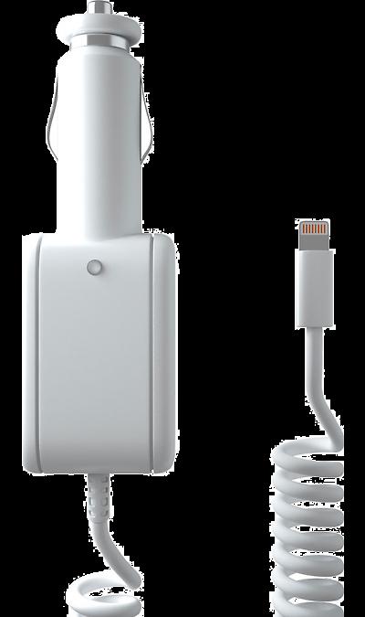 Зарядное устройство автомобильное Stark c разъемом Lightning (белое)Зарядные устройства<br>Автомобильное зарядное устройство можно использовать для зарядки аппаратов компании Apple с разъемом Lightning.<br><br>Colour: Белый