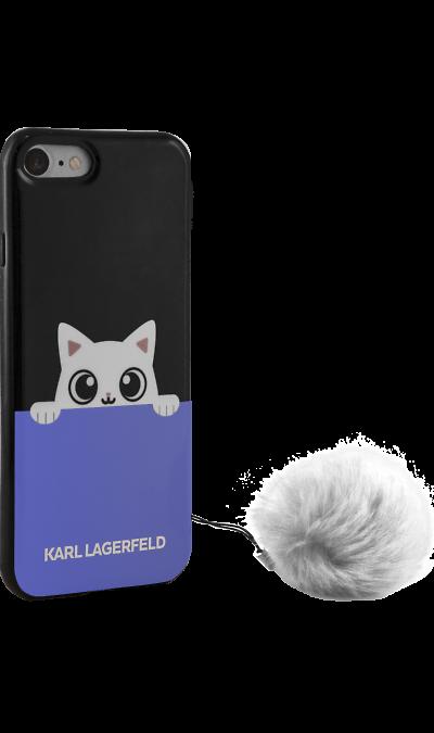 Чехол-крышка Karl Lagerfeld для Apple iPhone 6/6s, силикон, синий (Soft Case)Чехлы и сумочки<br>Чехол Karl Lagerfeld  поможет не только защитить ваш iPhone 6 от повреждений, но и сделает обращение с ним более удобным, а сам аппарат будет выглядеть еще более элегантным.<br><br>Colour: Синий
