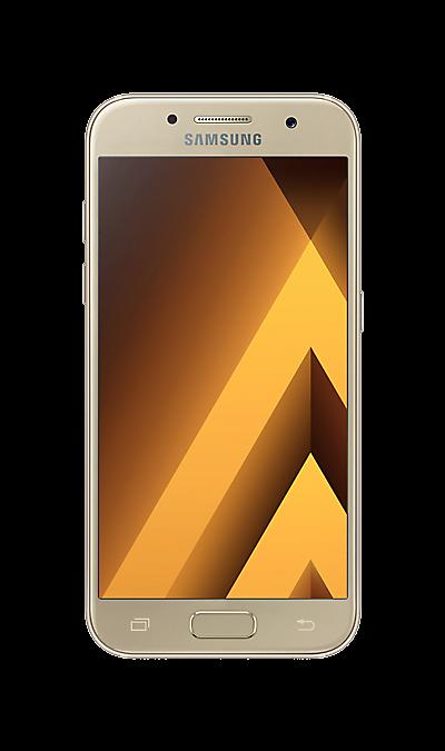 Samsung Galaxy A3 (2017) SM-A320F золотистыйСмартфоны<br>2G, 3G, 4G, Wi-Fi; ОС Android; Дисплей сенсорный емкостный 16,7 млн цв. 4.7; Камера 13 Mpix, AF; Разъем для карт памяти; MP3, FM,  GPS / ГЛОНАСС; Вес 138 г.<br><br>Colour: Золотистый